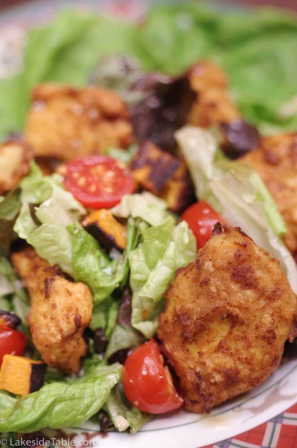 Fried Chicken Salad - Cold crisp salad and hot fried chicken. The best of both worlds! | www.lakesidetable.com