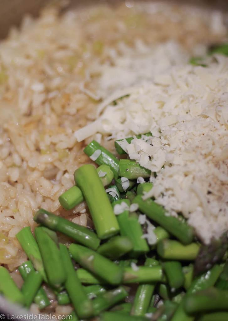 Lemon Asparagus Risotto Recipe - A real treat and super easy. I love this one!   www.lakesidetable.com