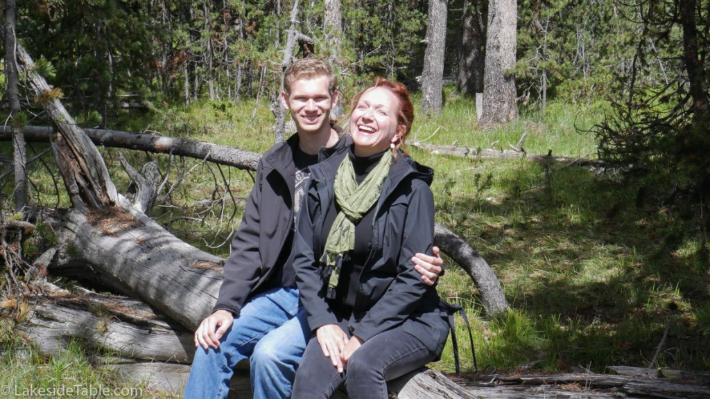 Laughing is good for the soul. Laughing on a trail in Yellowstone National Park... priceless! | www.lakesidetable.com