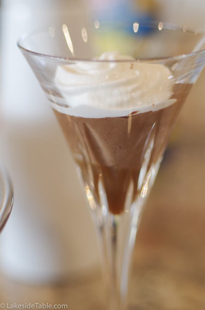 Real Chocolate Mousse inspired by Julia Child's recipe. Rich, Creamy, Chocolate-y Easy! | www.lakesidetable.com