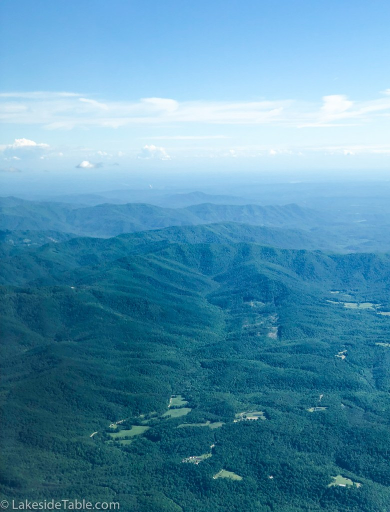 View from the Cirrus foothills of the Smokey Mountains outside Knoxville
