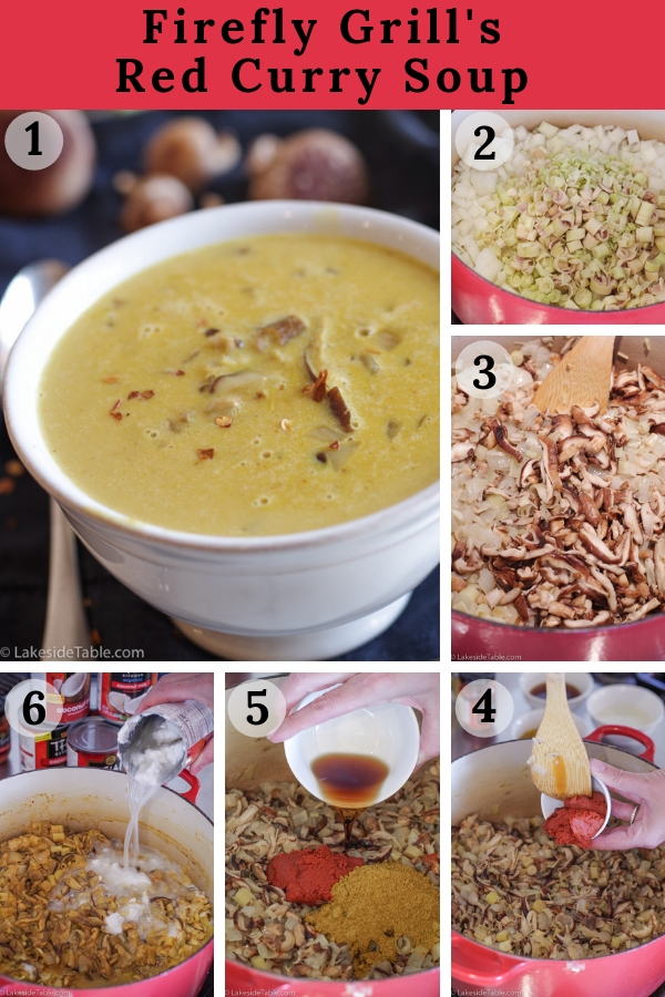 Red Curry Soup step by step process photos