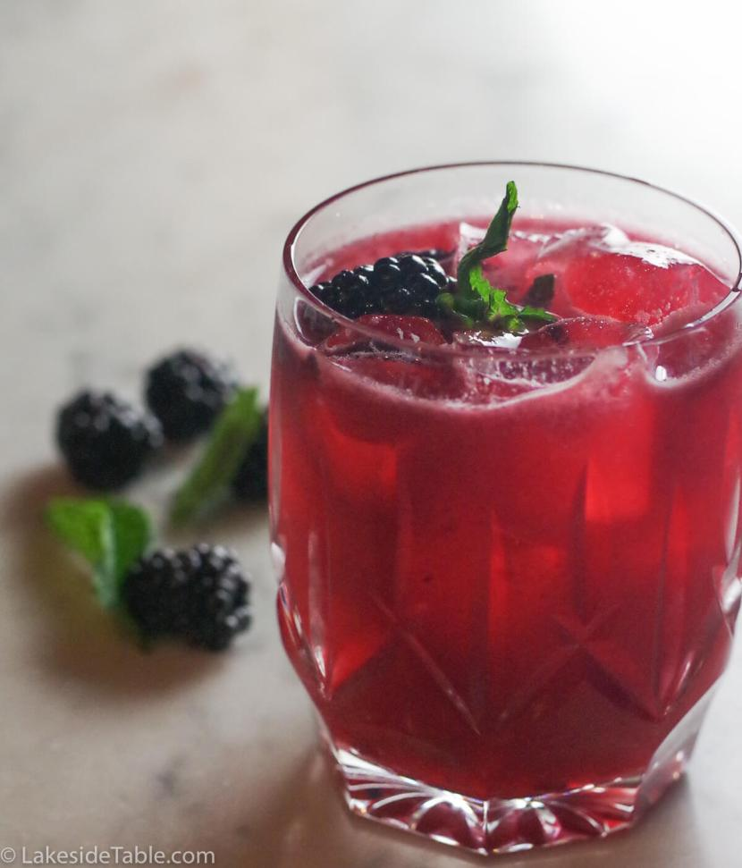 Sinatra Smash Cocktail Recipe - Tangy sweet, fruity with a kick of bourbon. Still a Favorite! | www.lakesidetable.com