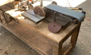 Table saw and belt sanders with Disc sander