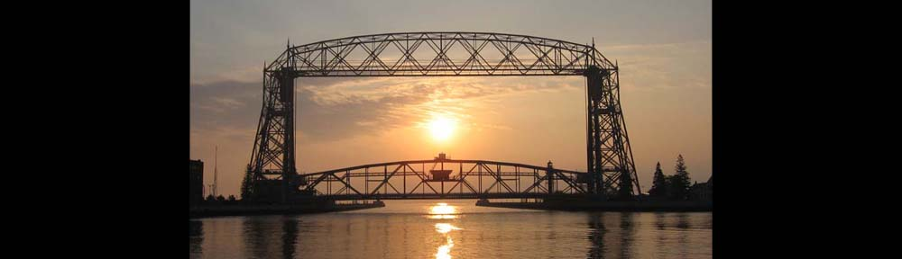 Aerial lift bridge in Duluth Minnesota