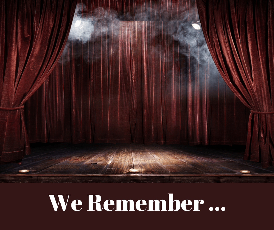 We Remember ….
