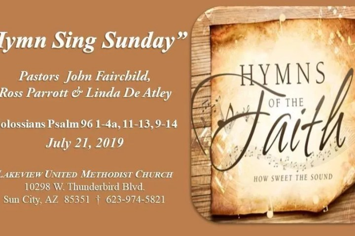 Hymn Sing Sunday Archives - Lakeview United Methodist Church