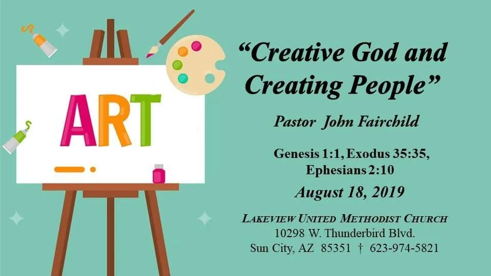 Creative God and Creative People