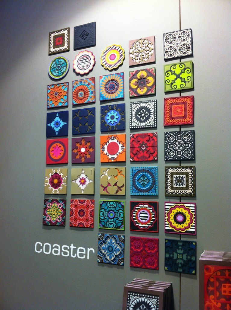 Image d/'Orient Coasters 6-pc Assortment Set Earth