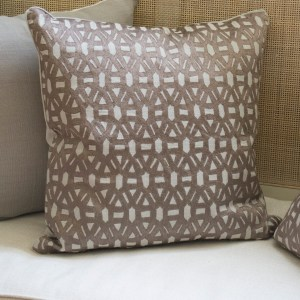 Wagon Wheel Brocade Pillow