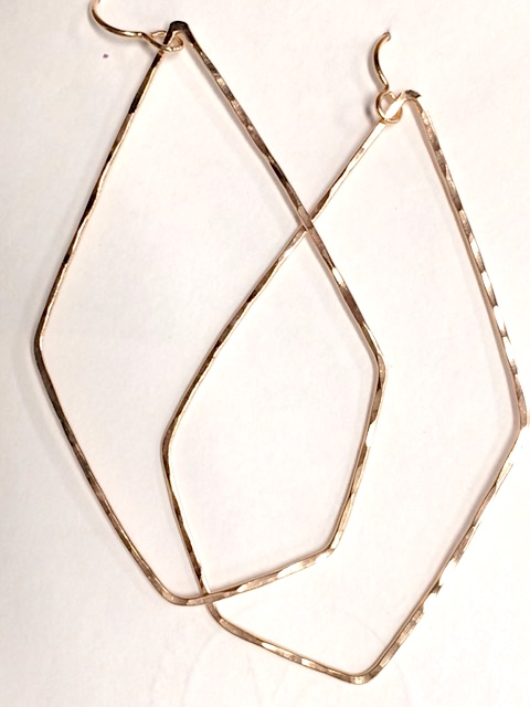 9ddf7e58f You're viewing: Hex Hoop Earring in Rose Gold $95.00