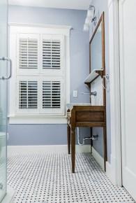 Bathroom window and sink