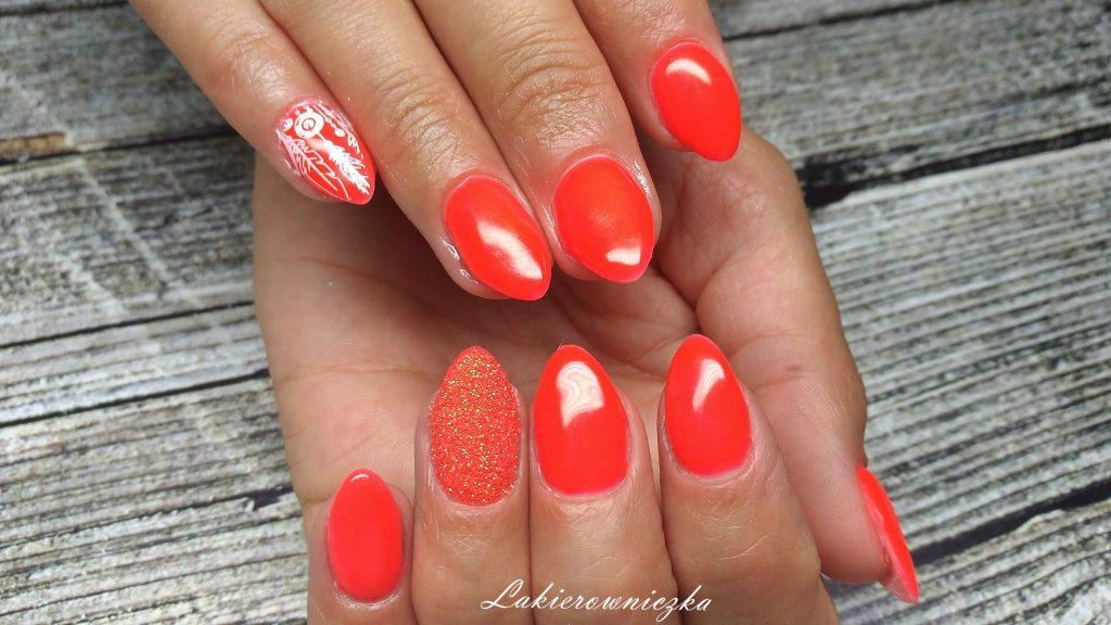 neon-orange-stamps-plates-bps-provocater-neon-strdust-paznokcie-pomaranczowe-neonowe-paznokcie pomarańczowe neonowe