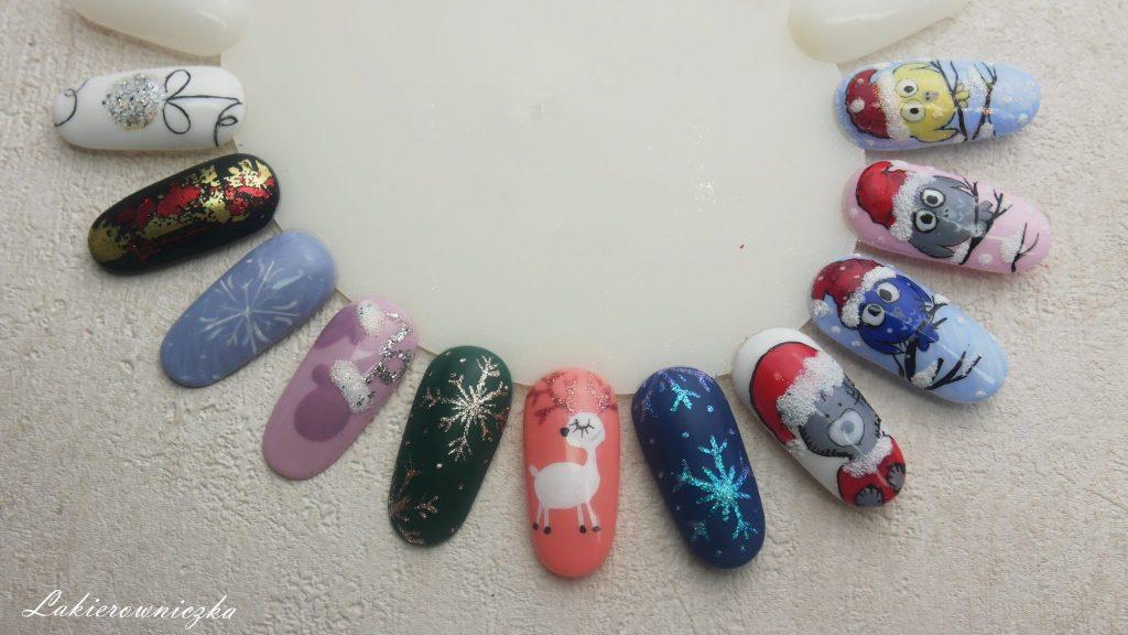 Zimowe I świąteczne Paznokcie Hybrydowe Wzorniki Z Masą Inspiracji