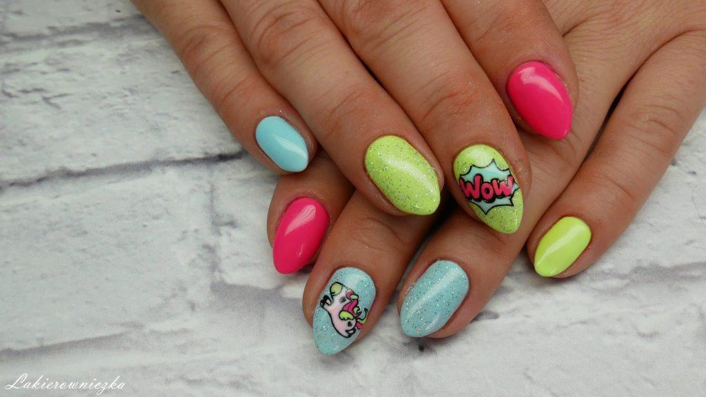 neonowe-hybrydy-neony-na-paznokciach-hybrydowych-neon-hybrid-nails-Lakierowniczka-azteckie-safari-jednorozce-unicorns-Victoria-vynn-pure-125-126-Provocater-094-119-DVN-052-Nails-company