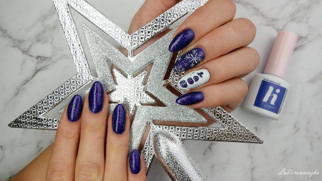 zimowe-paznokcie-hybrydowe-sniezynki-balwan-3D-winter-nails-hi-hybrid-#319-blue-nebula-Lakierowniczka