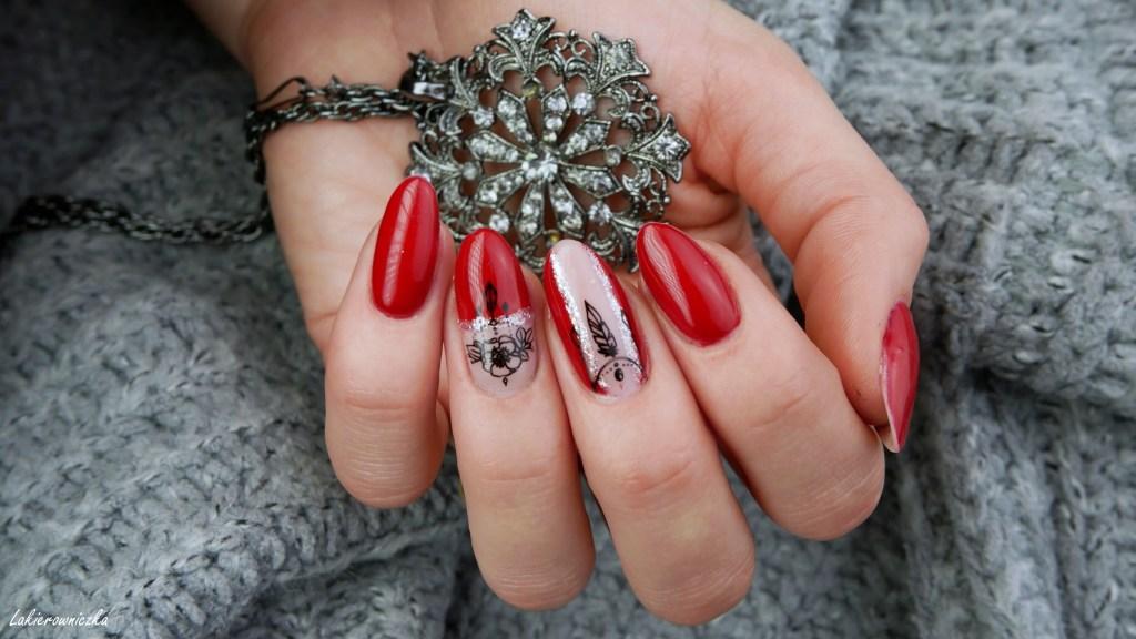 recenzja-bazy-kauczukowe-Niuqi-Biedronka-hybrydy-Jaga-czerwone-paznokcie-red-nails-Born-Pretty-stemping-Lakierowniczka