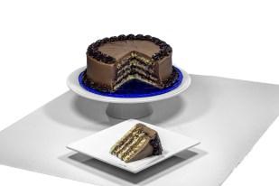 Almond Meringue Cake w/Chocolate Ganache and Chocolate Buttercream