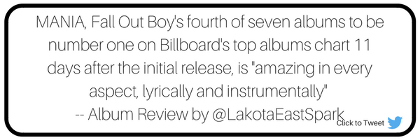 Culture Album Review by Rebecca Holst MANIA by Fall Out Boy new music release Art used with permission Lakota East High School Lakota East Spark Newsmagazine Online