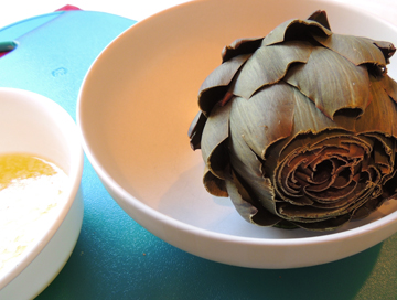 artichoke with butter