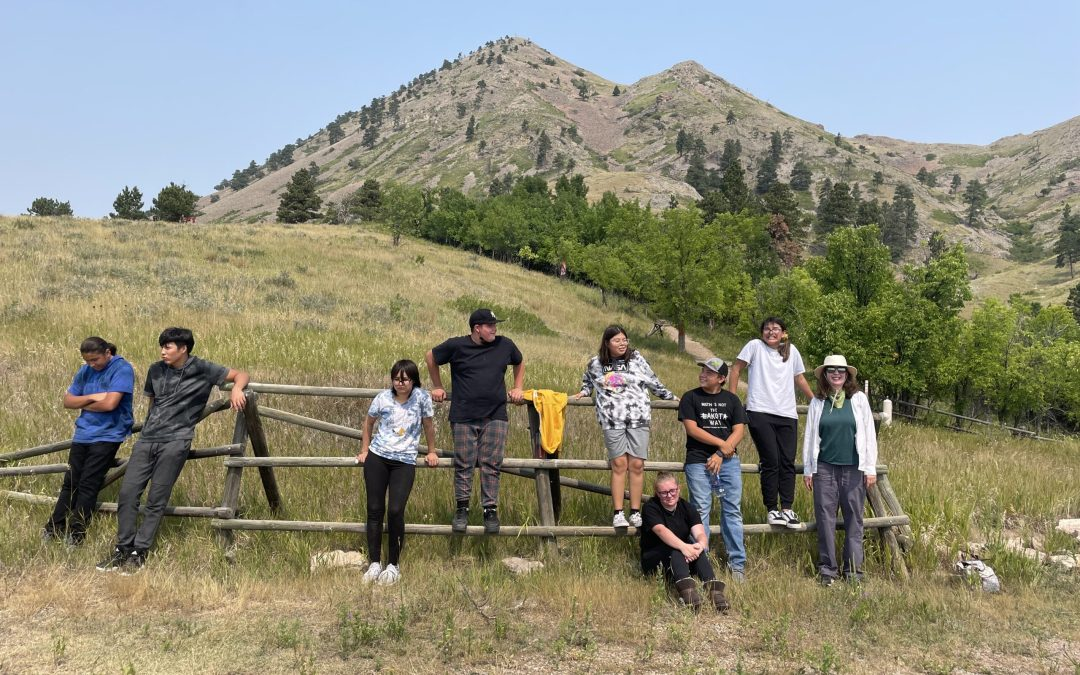 """Cheyenne River Youth Experience Bear Butte with CRYP & """"Connecting with our Homelands"""""""
