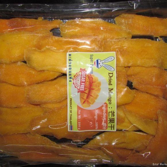 манго в таиланде манго сушеный