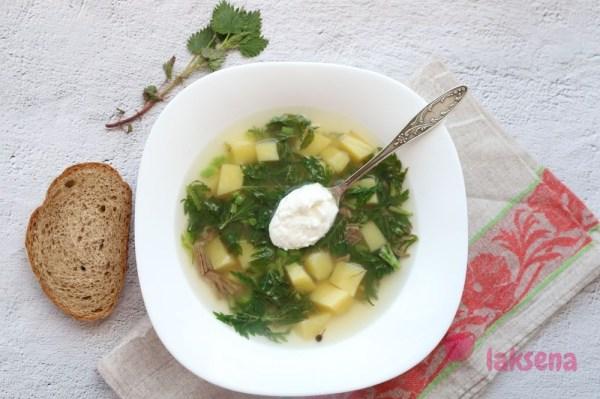 Летний суп с крапивой