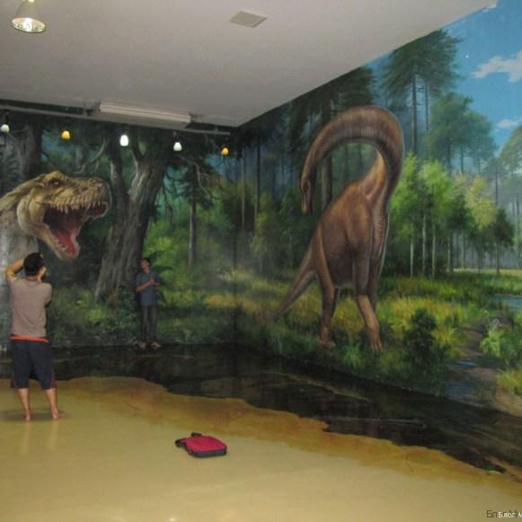 3D галерея Art in paradise Pattaya динозавры