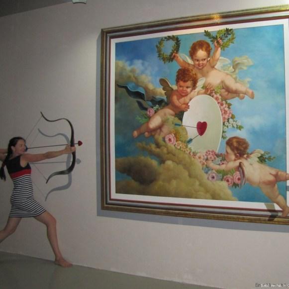 3D галерея Art in paradise Pattaya стрела амура
