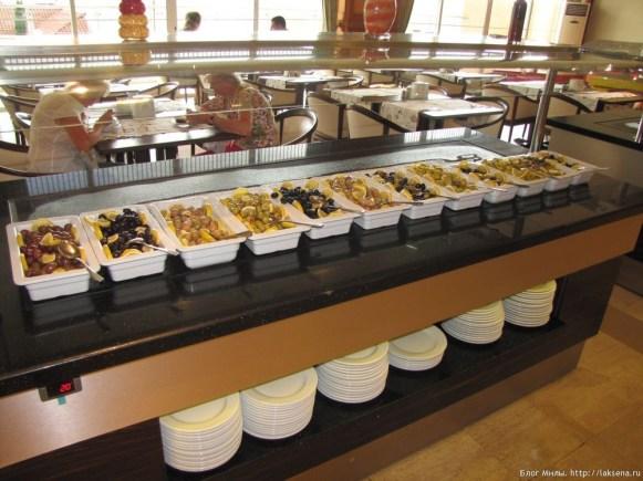Grand Yazici Mares 5* завтрак оливки