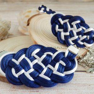 Conjunto de collar y pulsera marinero