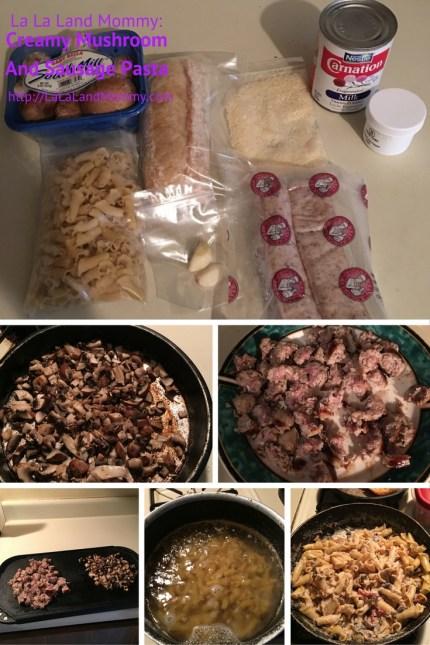 La La Land Mommy: Creamy Mushroom And Sausage Pasta