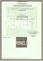 Licence Musique 1997