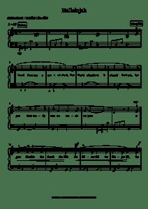 piano partition hallelujah de Leonard Cohen