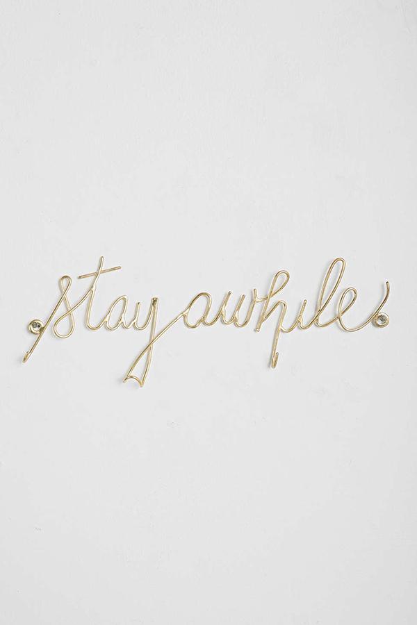 Stay Awhile Wall #Hook via La La Lovely Blog
