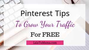 Pinterest Tips for growing traffic