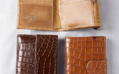 Crocodile Leather Ladies Trifold Wallet