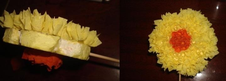 торцевание цветка