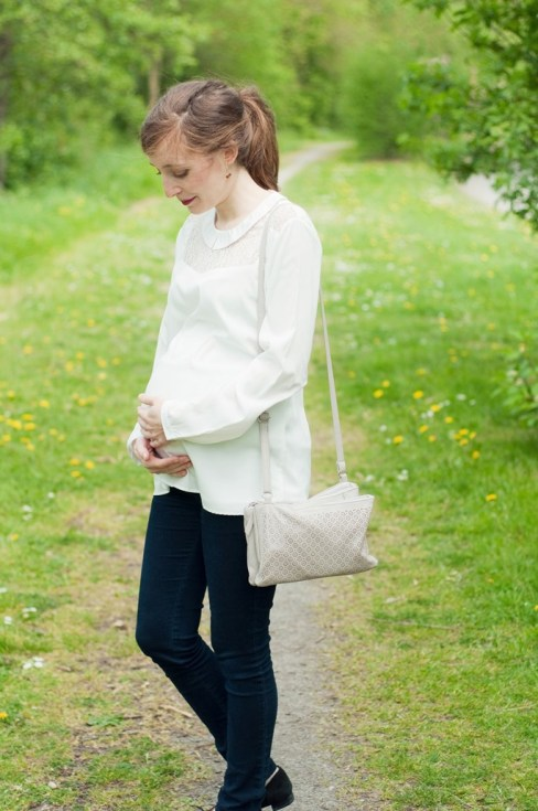 Blouse blanche grossesse