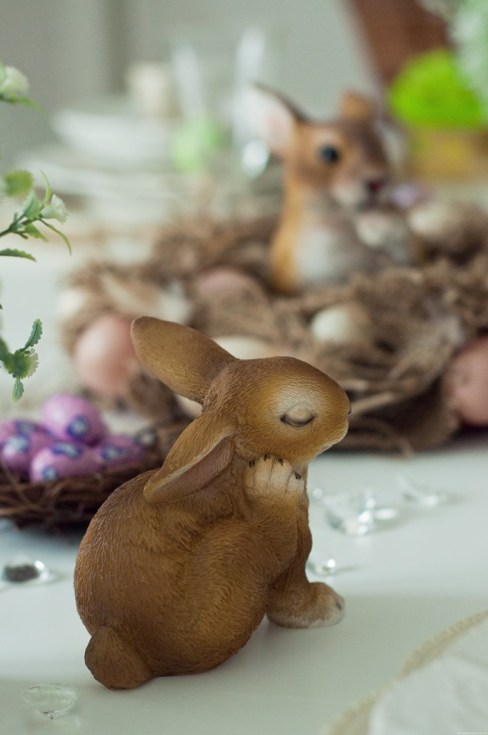 Lapin decoration table Paques