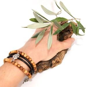 Bracelet manchette Feuille Argent plaqué – Mixte