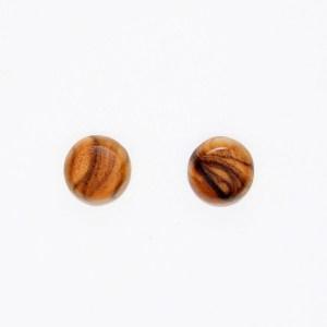 Puces d'oreilles – Olivier – semi ronde Ø 0.8cm