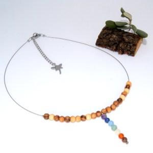 Collier «ras de cou» pendentif Chakras