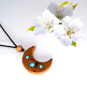 Collier Lune du Lagon – Cerisier – Mixte