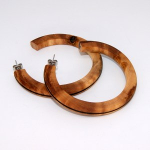 Créoles en Olivier – Ø 5.3cm