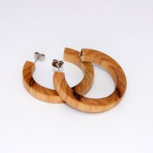 Créoles en Olivier – Ø 4cm