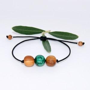 Commande H.N bracelet Amandier Malachite