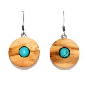 Boucles d'oreilles Disque solaire – Olivier et Turquoise