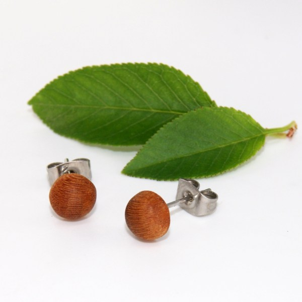 Puces d'oreilles - Cerisier - ronde Ø 0.8cm