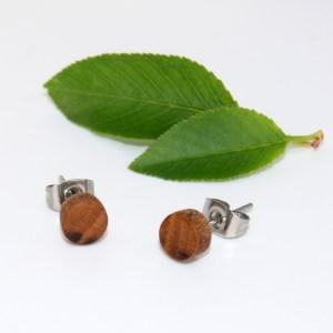 Puces d'oreilles – Cerisier – plate Ø 0.6cm